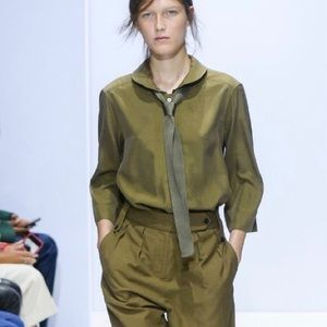 Margaret Howell runway silk blouse